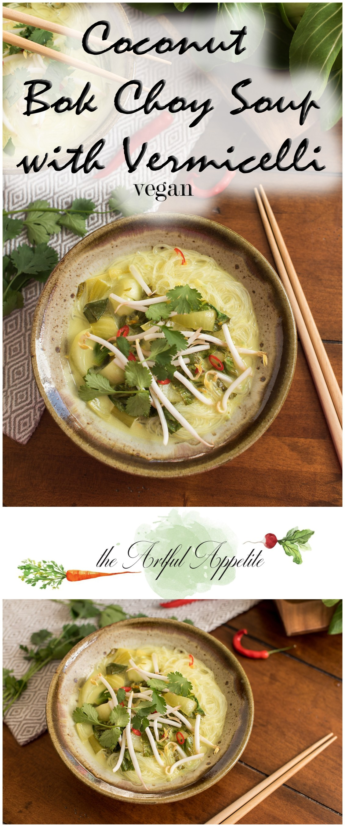 Coconut Bok Choy Soup with Vermicelli and Awesome Vegan Soups Cookbook Review