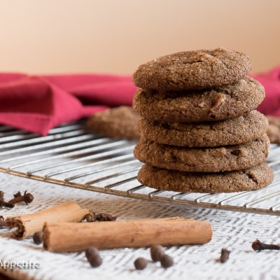 Chewy Vegan Molasses Spice Pecan Cookies
