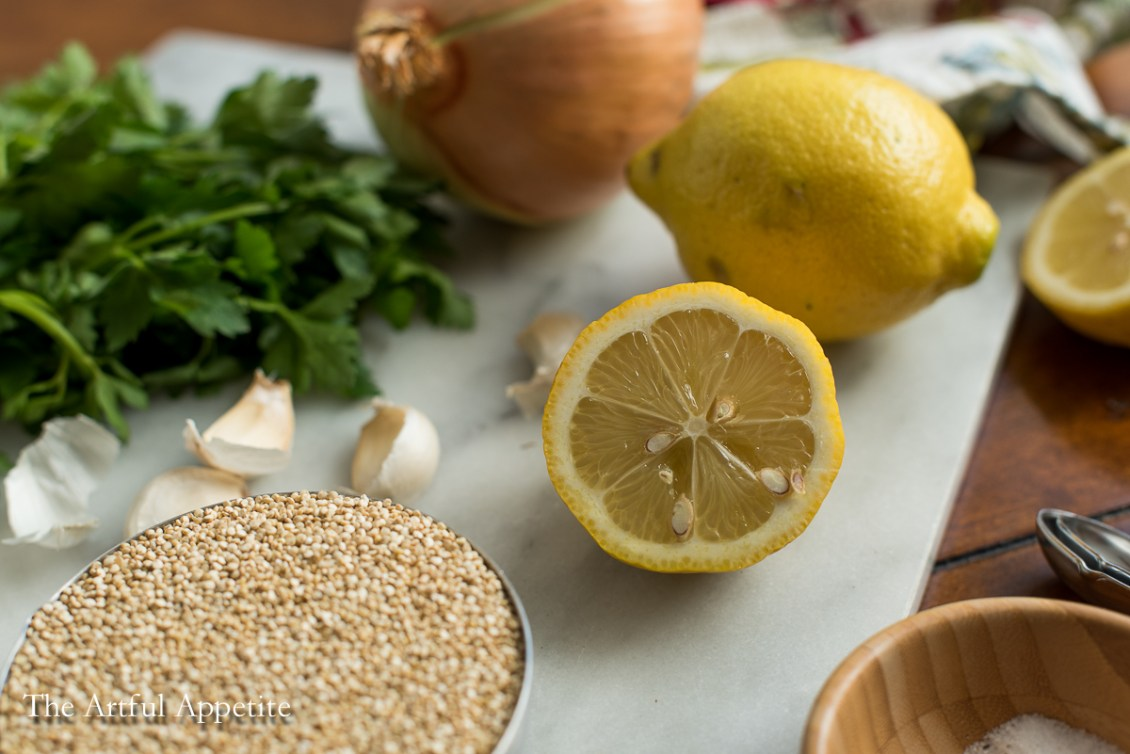 This Chickpea Quinoa Lemon Parsley Soup is made of staples in my kitchen and oh so delicious and nutritious!