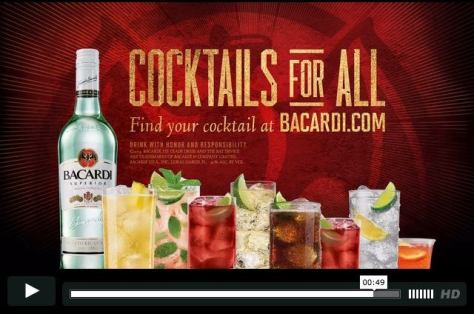 Bacardi Cocktail Shoot