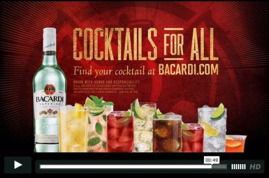 Bacardi Cocktail Shoot