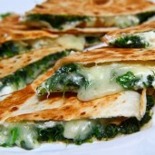 Spinach & Pesto Quesadillas