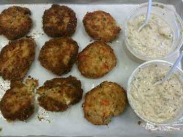 Crab Cakes on Parchment Paper