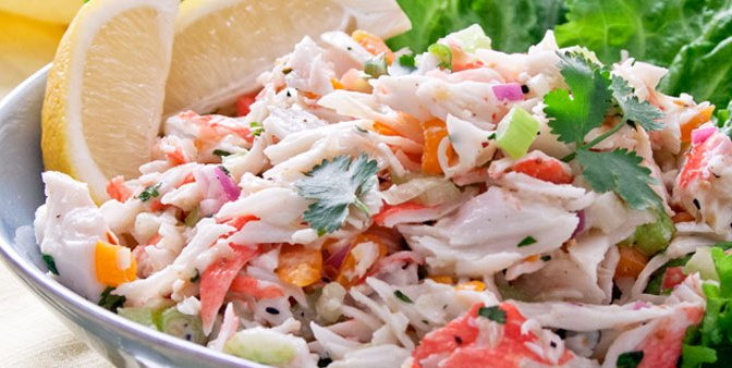 Refreshingly Light Get-In-My-Bikini Crab Salad