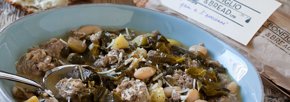 Garlicky Greens & Beans with Sausage