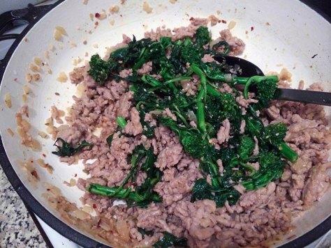 Sauteed Broccoli Rabe-Sausage
