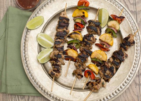 Grilled Chicken & Veggie Kabobs
