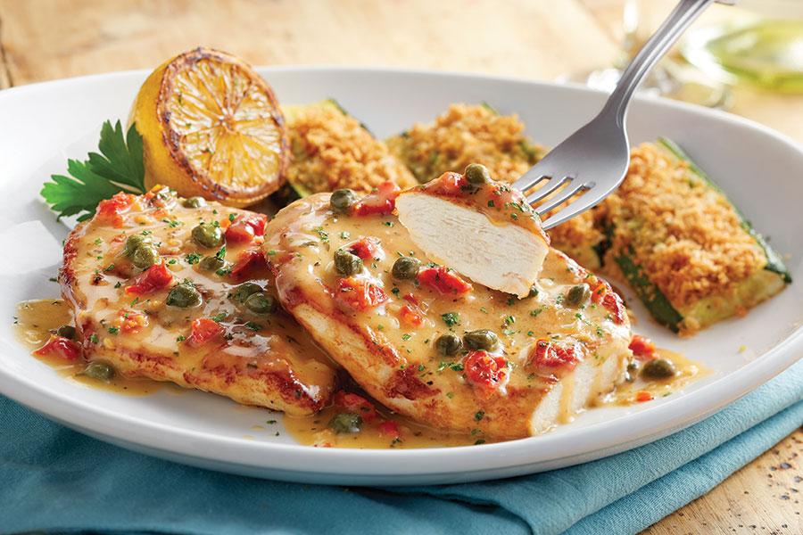 Olive-Garden-Chicken-Piccata-Dinner