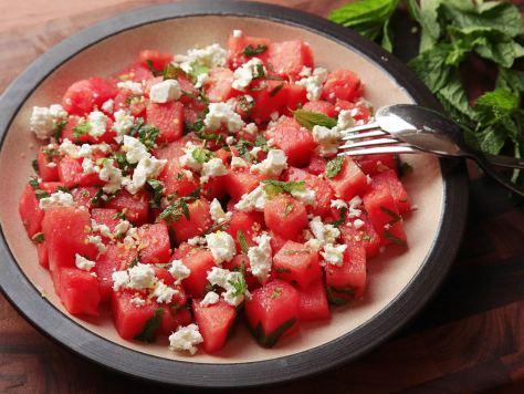 Watermelon Feta & Mint Salad