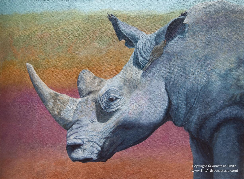 Dinokeng Rhino Painting