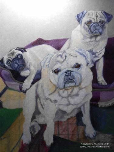 Maximum Puggage (41x30.5cm, 16x12in) Oil on Canvas