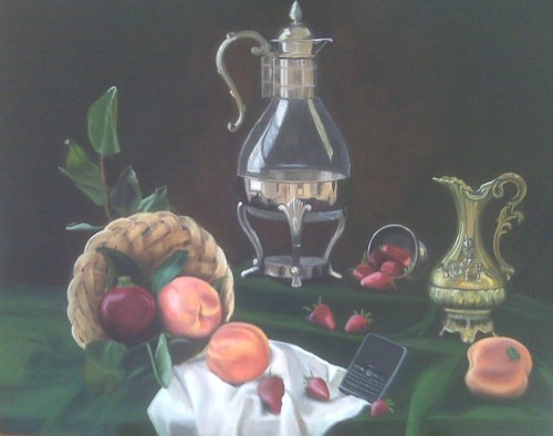 Still Life with Blackberry (?x?cm, ?x?in) Oil on Canvas