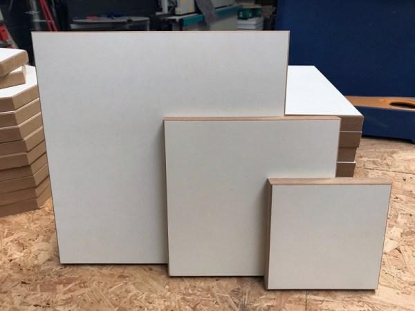 Acryl gieten hout vierkant divers 2