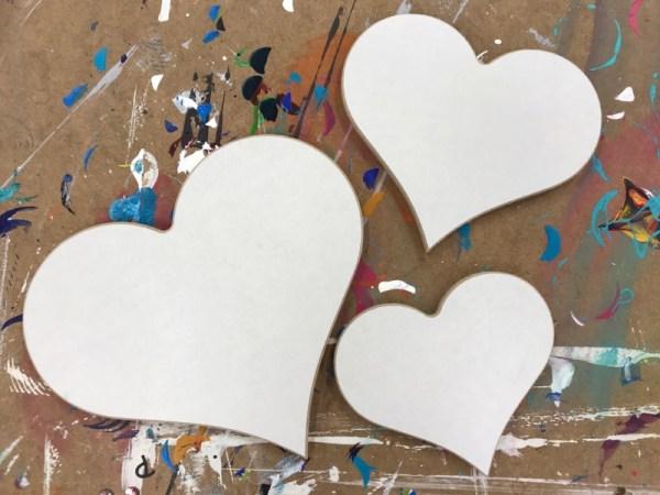 Creatief hobby materiaal hout hart 2
