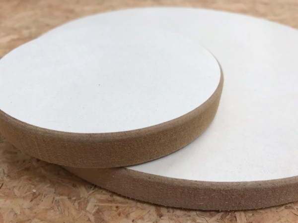 Materiaal hout acryl gieten cirkel detail