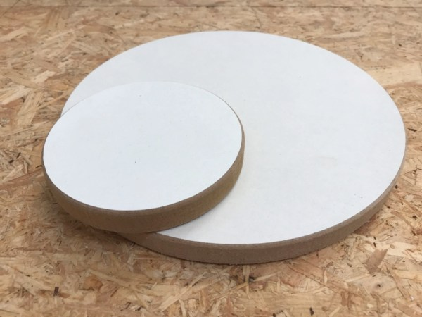 Materiaal hout acryl gieten cirkel