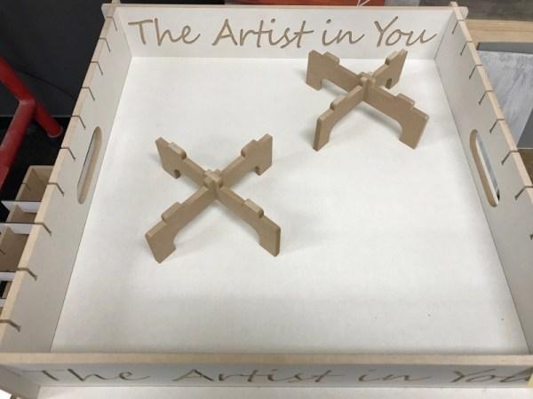 acrylgieten dragers kruis