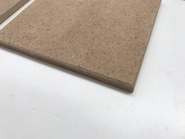 Onderzetters hout hobbymateriaal detail