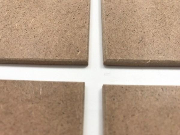 Onderzetters hout vierkant