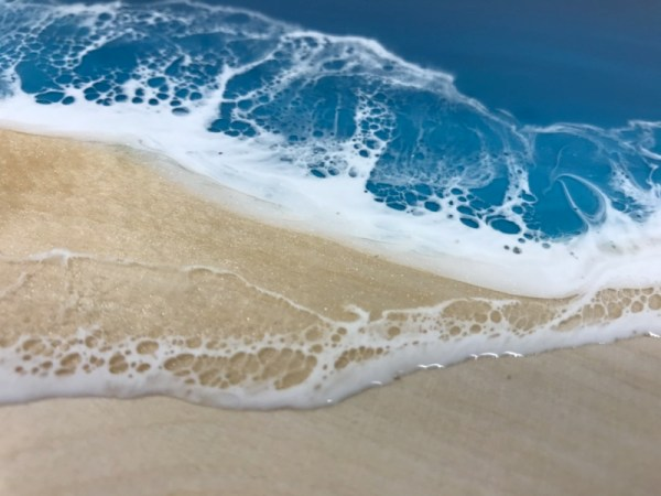 Epoxy beach time wave lacing