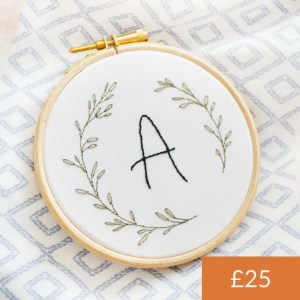 Custom Initial Embroidery Kit