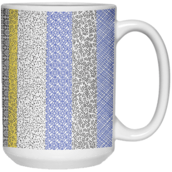 15 Privacy Stripes Mug by Khrysso