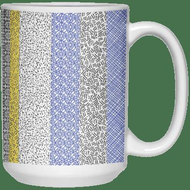 15 Privacy Stripes Mug by Khrysso