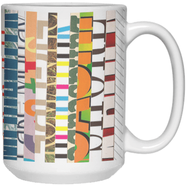 Cut Stripes Mug by Khrysso