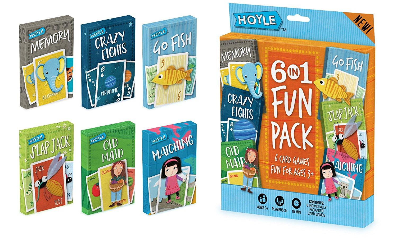 Hoyle Kid S 6 In 1 Fun Pack Card Games Sale Alert
