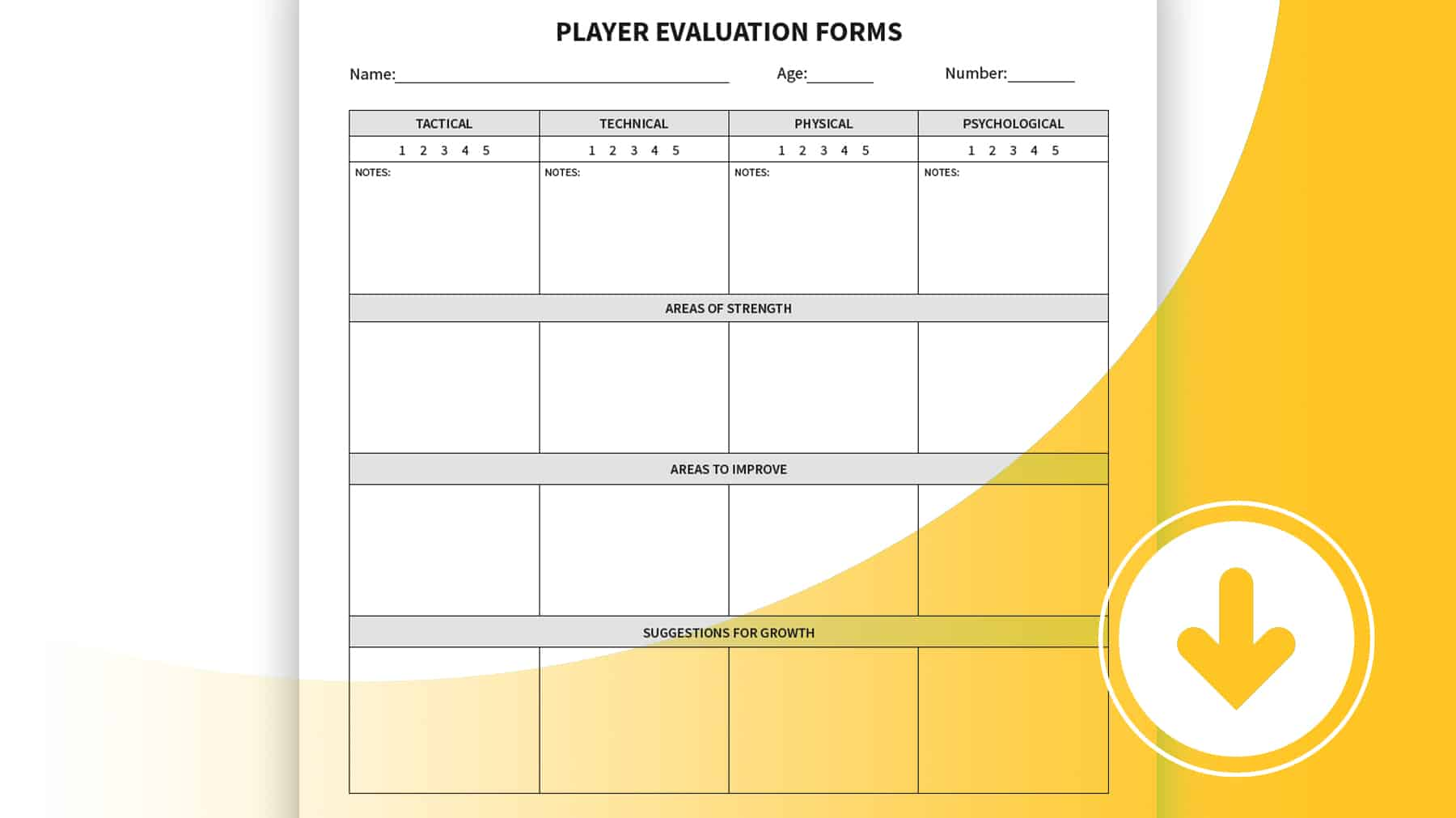 Player Evaluation Forms