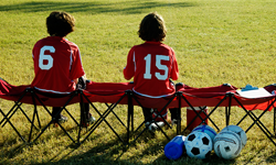 Players on the bench