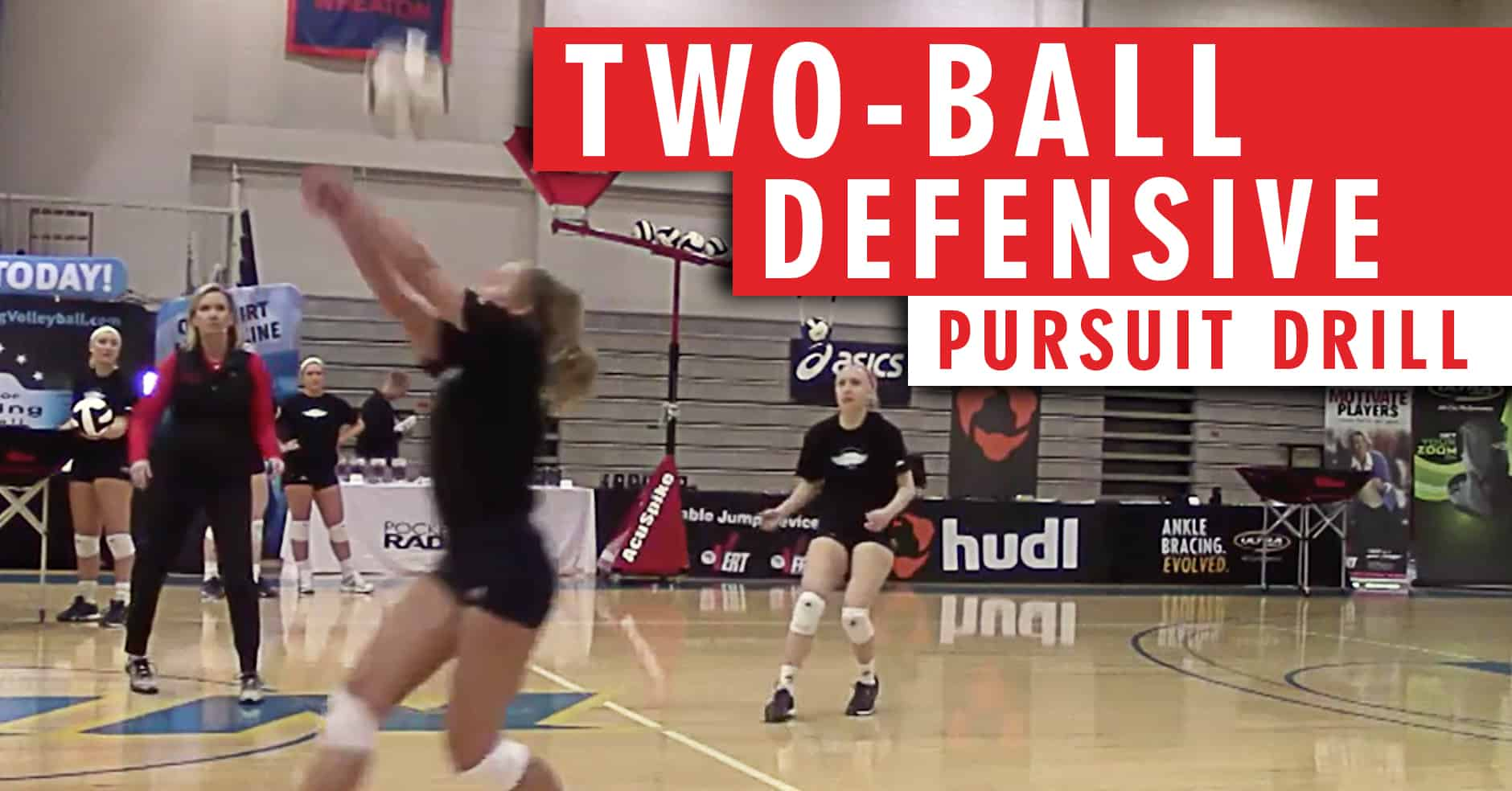 Two Ball Defensive Pursuit Drill