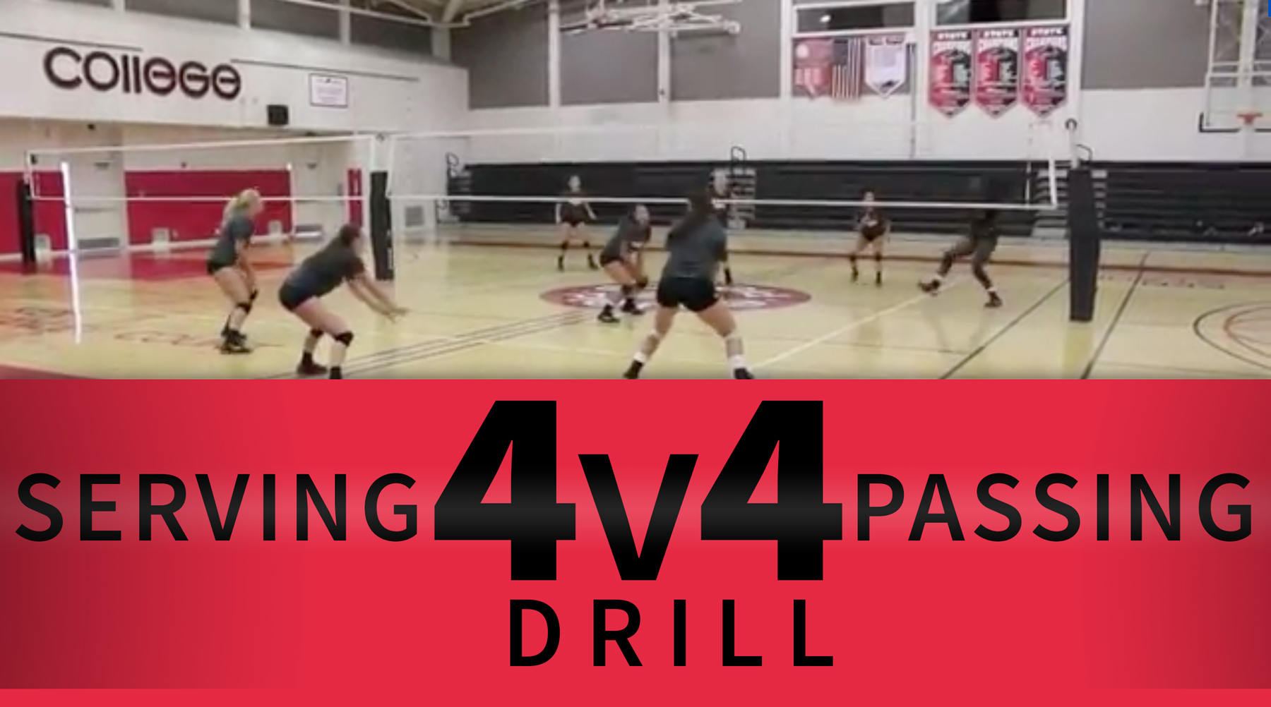 4 V 4 Serving And Passing Drill