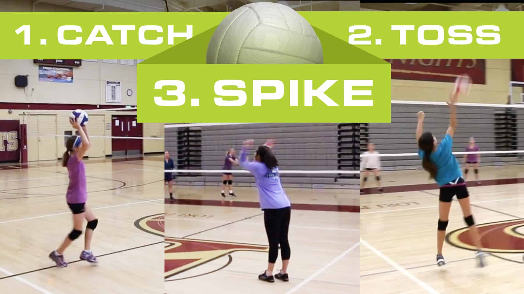 Catch Toss Spike Game For Beginners