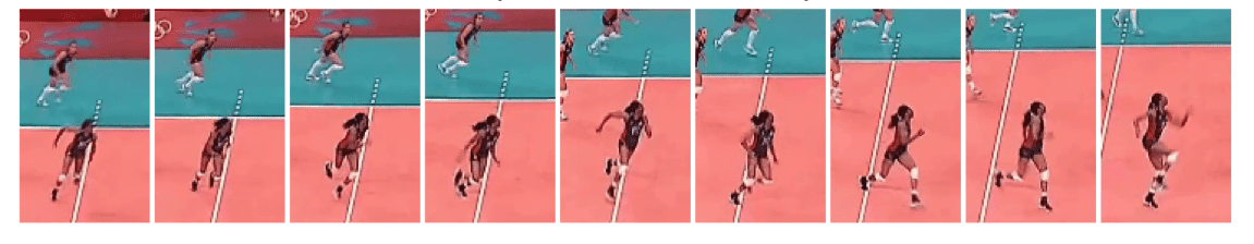Foluke Akinradewo of the USA - Slide Run Approach Analysis - Side View