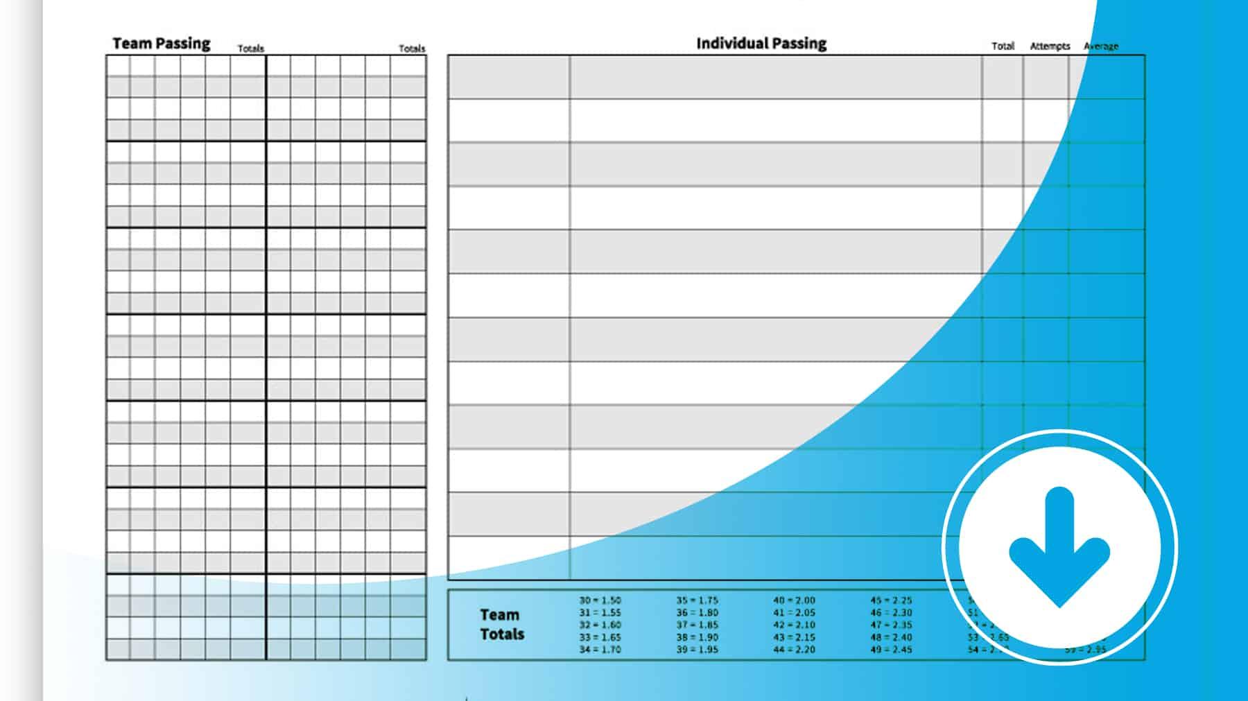 Passing Statistics Worksheet