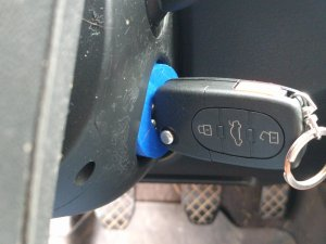 RFID Holder With Key Inserted