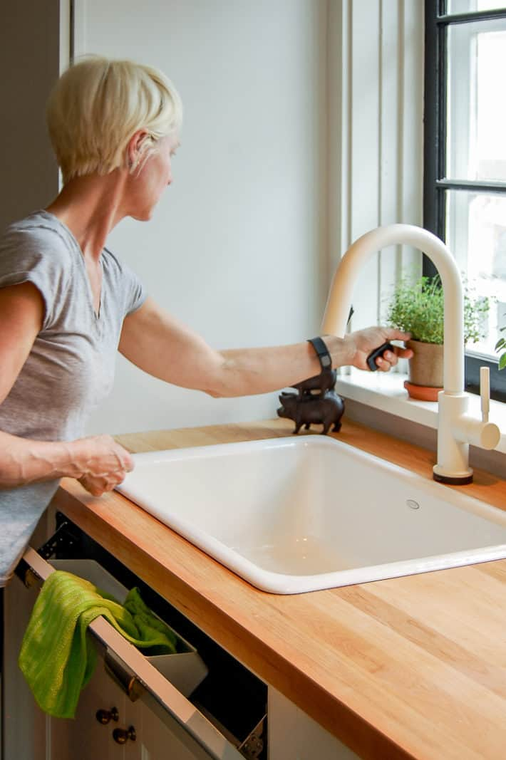 how to install a sink tip out tray for