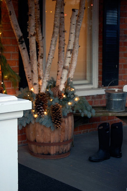 A Rustic Porch For ChristmasSophisticated Decorating With
