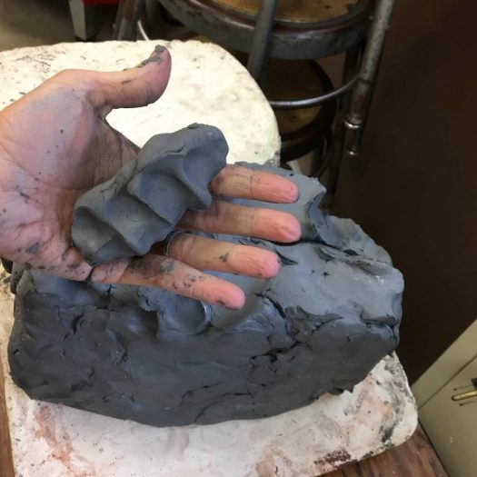 using the clay