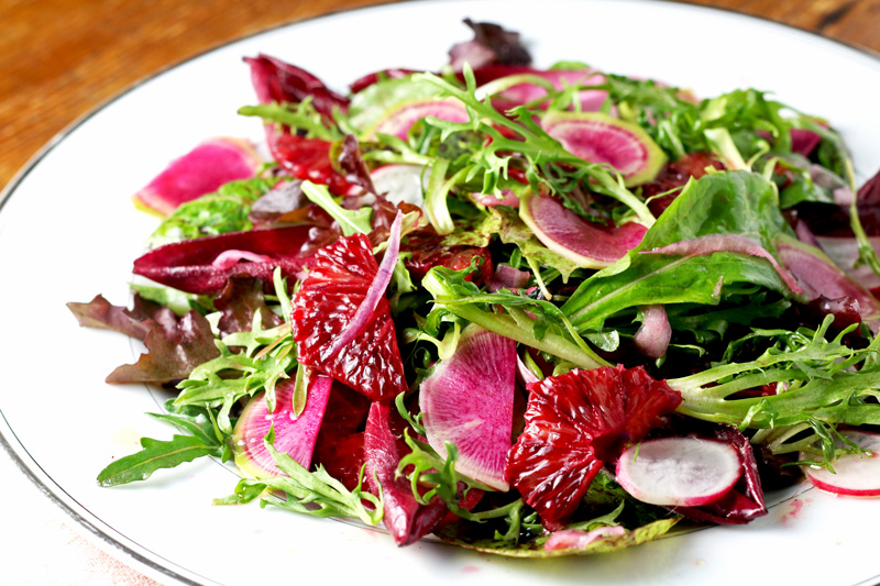 bittersweet salad closeup