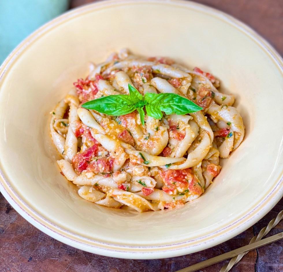 busiate pasta the trapanese pesto