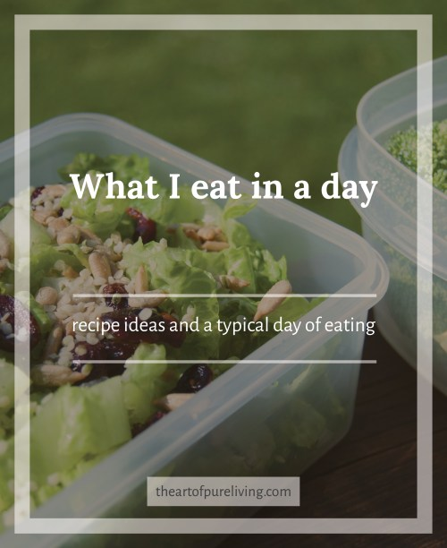 What I eat in a day - vegan - life