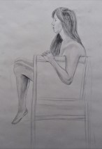 10 graphite drawing 15 minutes pose