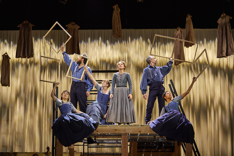 The ensemble, with Nadia Clifford as Jane Eyre