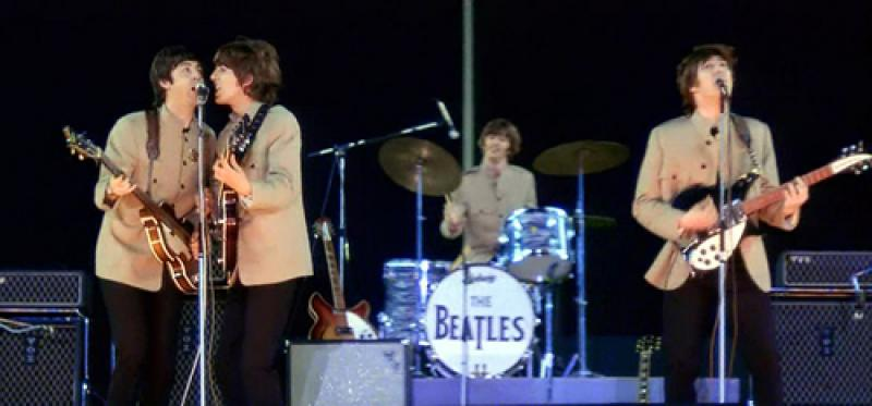 Image result for the beatles at shea stadium images