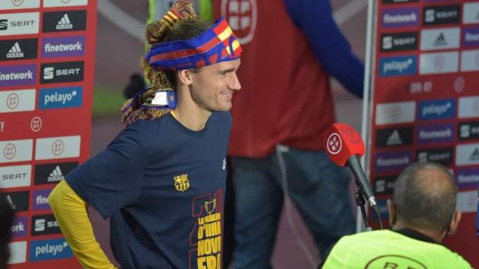 Griezmann Posts Great Photo After Barca Win Copa del Rey