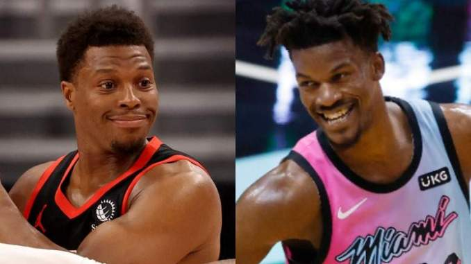 Jimmy Butler Reveals Kyle Lowry Is His Daughter's Godfather