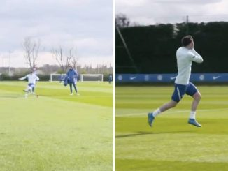 Mount hits water bottle with unreal strike in training