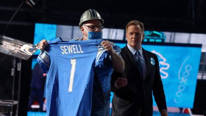 Penei Sewell Fired up to Join Lions' Culture of Toughness
